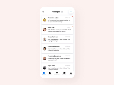 Message UI Micro Interaction