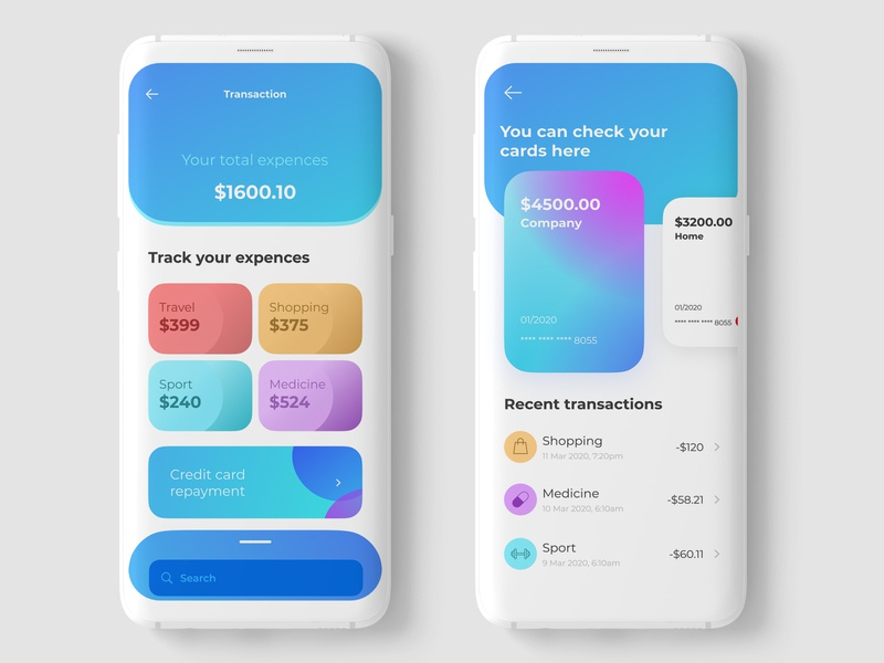 Finance Management App colorful uidesign app design soft ui payment app creditcard finance app dailyuichallenge figma ui bank app balance application userinterface