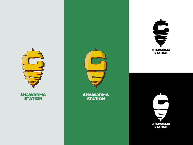 gs shawarma logo design