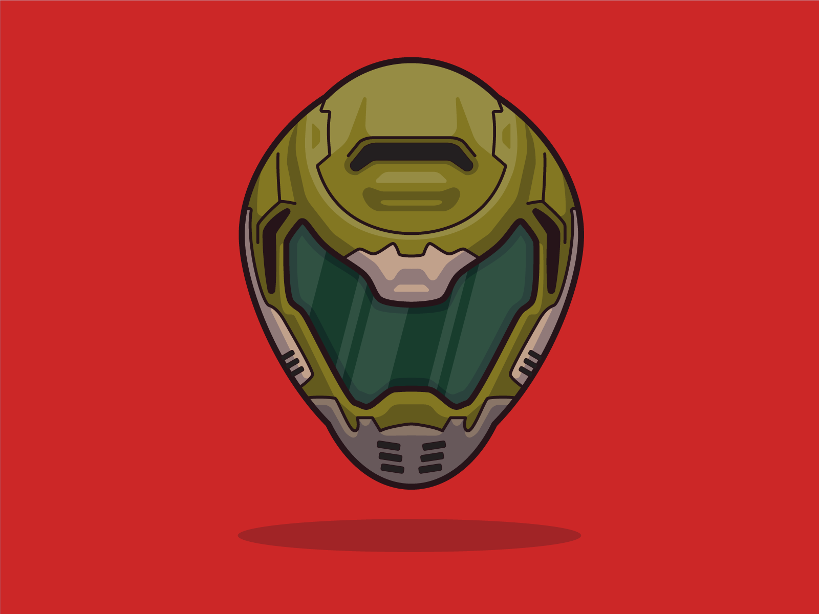 Doom Slayer By Play Fight On Dribbble