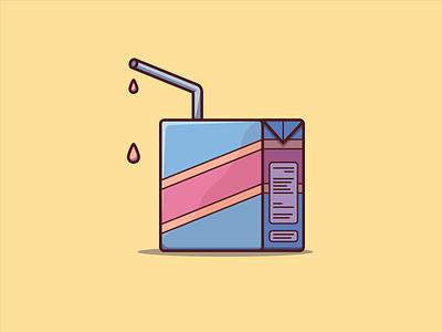 Juice Box flat design digital minimal illustrator flat design artwork vector illustration graphic