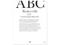 Baskerville - Three Periods of Type