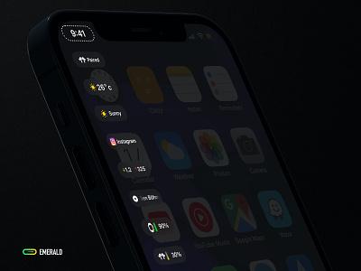 EMERALD - iOS iphone ui design info weather custom jailbrea ios14 notification ios emerald