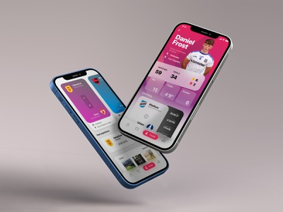 Soccer app / iOS concept user interface ux colorful blurred flat football soccer concept ui design app