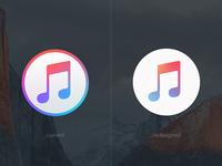 iTunes 12.2 redesigned icon