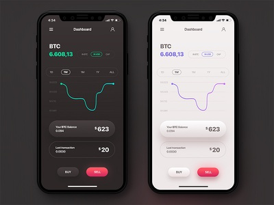 Crypto App Concept currency cryptocurrency apple flat design chart money bitcoin iphone app ios crypto