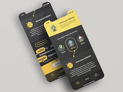 Dreaming app - Concept memories night apple flat design chart lucid sleep iphone app ios dream