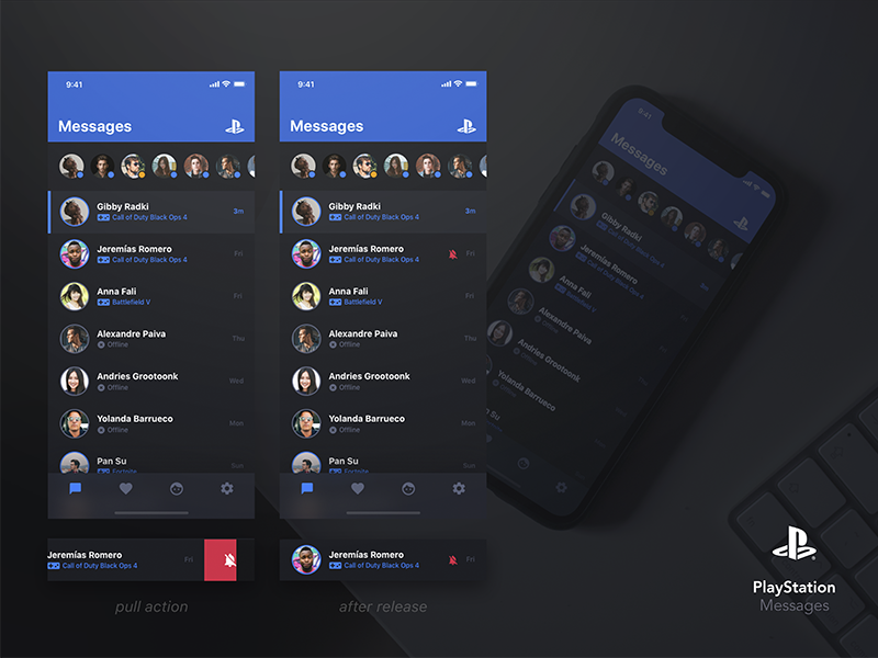 PS Messages iOS App Concept by Fabian Albert on Dribbble