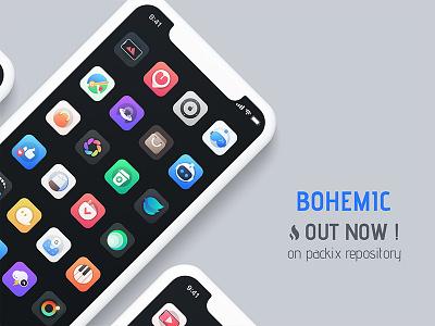 Bohemic icon pack app design gradients vector winterboard anemone sileo cydia iphone ios theme jailbreak pack icons icon bohemic