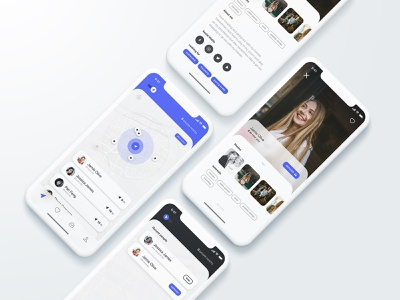 Personal Conceptual Design V2 branding concept user interface clean interface application mobile ios ux ui location geo app dating project personal design meetlok