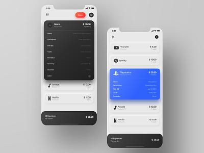 Subscription Manager | iOS design ui concept iphone manage calendar track money expenses app ios subscriptions manager subscription