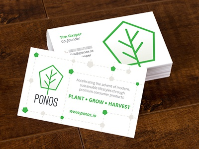 Ponos Business Cards