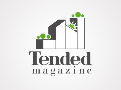 Tended logo (idea #2) city buildings plants logo magazine garden urban