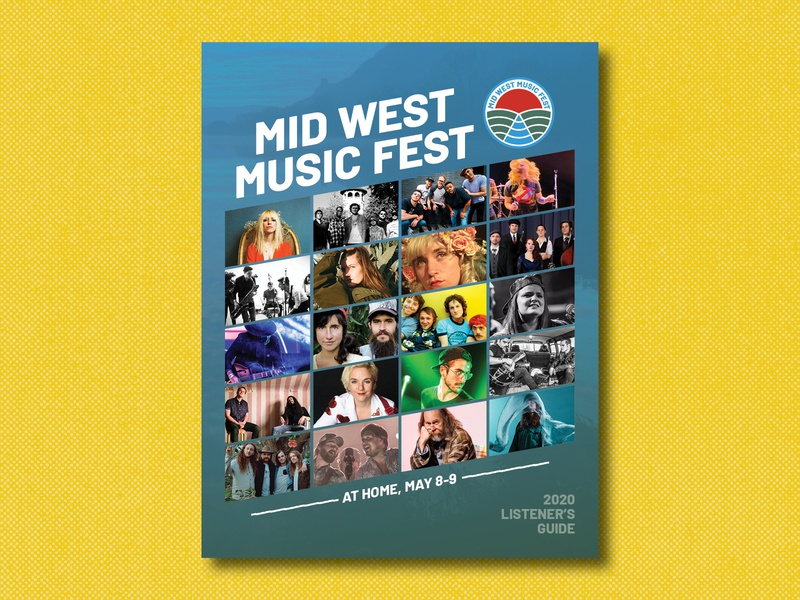 MWMF 2020 Guide adobeindesign layout virtualfest covid19 covid19music corona madeinmn minnesota driftless buylocal supportlocal supportmusic music graphicdesign design midwestmusicfest
