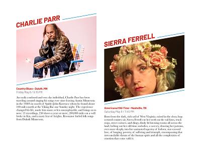 Charlie Parr & Sierra Ferrell virtualfest minnesota driftless music layout graphicdesign design midwest
