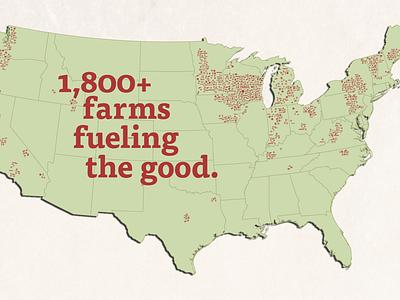 Organic Valley Map farming organic wisconsin illustration icon typography branding design