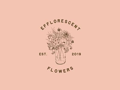 Efflorescent Flowers antique logo flowers illustration vintage design