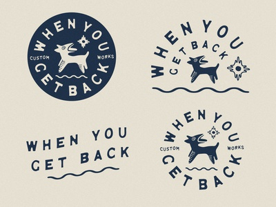 When You Get Back oaxaca alebrije sun southwest dog natural vector illustration desert vintage design branding logo