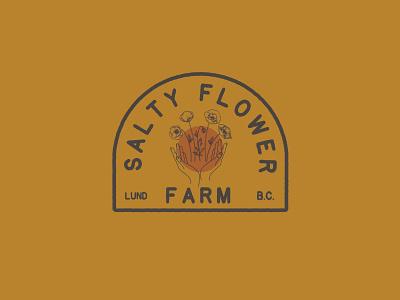 Salty Flower Farm Logo farm flower design illustration logo