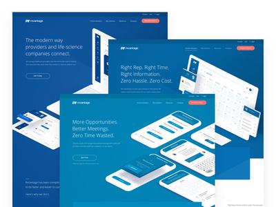 RxVantage Hero's landing page marketing healthcare 3d web design