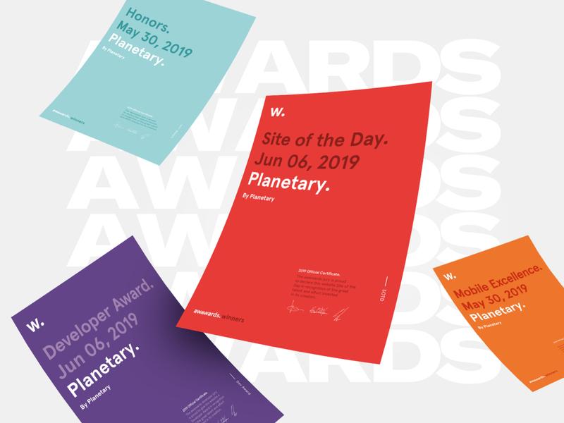 Site of the day: Planetary branding studio digital web design awwwards