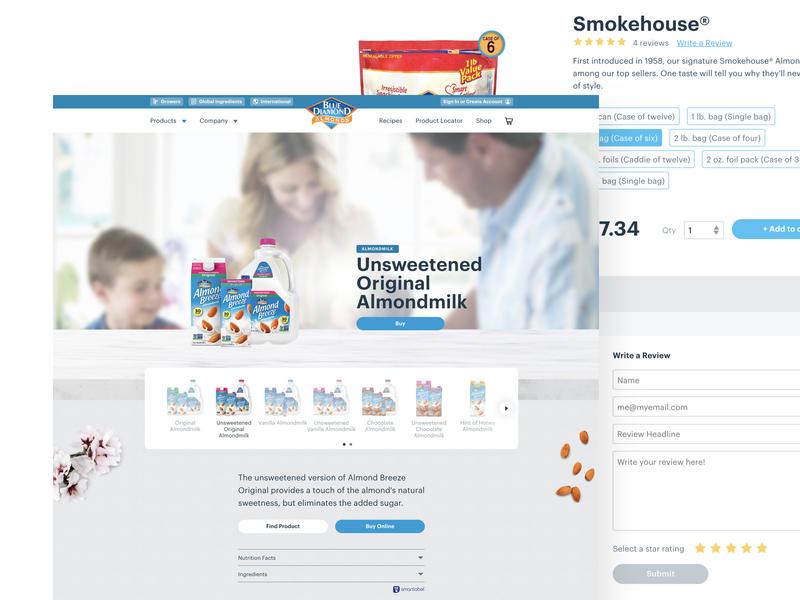 Blue Diamond Homepage uidesigns ui store ecommerce ux design branding web design