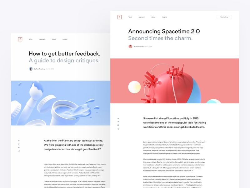 Blog Posts aticle content blog design web design