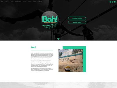 Bah! Beach Sports illustration ux web branding