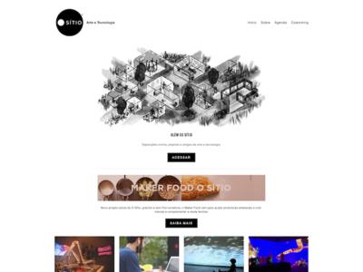 O Sitio logo design ux illustration branding web