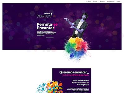 Comunicação Encantada illustrator website typography logo design ux illustration branding web