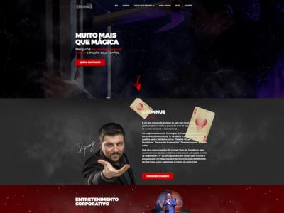 Mágico Kronnus website logo design ux illustration branding web