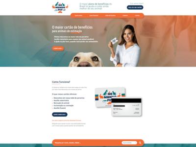 No Mundo Pet website design ux illustration branding web