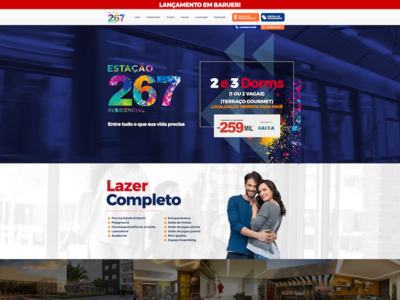 Estação 267 website design ux illustration branding web