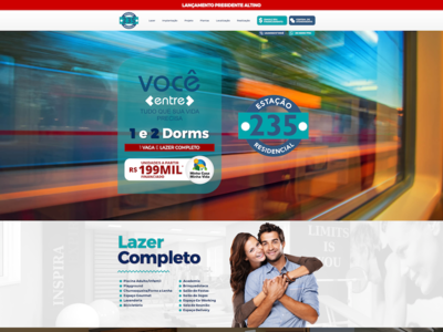 Estação 235 website logo design ux illustration branding web