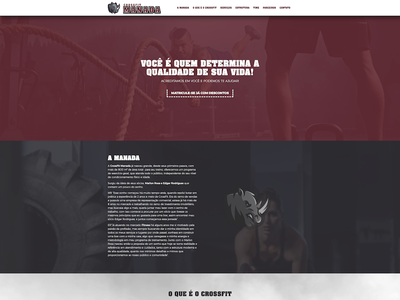 Crossfit Manada website logo design ux illustration branding web