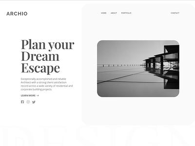 Architect Landing Page branding design monogram graydesign webdesign ui  ux corporate