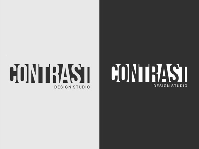 CONTRAST blackandwhite monotone graphic design logo branding