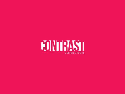 CONTRAST LOGO minimal logo minimalist minimal clean logo space negetivespace red logo design graphic design branding design corporate colors logo branding