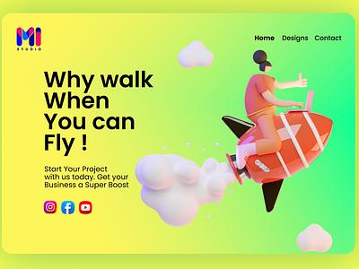 Mi Studio branding corporate colors design ux webdesign ui