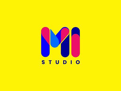 Mi Studio minimal logo minimal graphic design branding logo