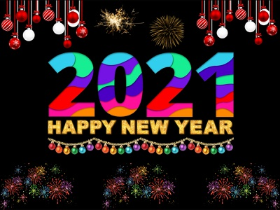 Happy New Year 2021 design advertising banner poster illustrations graphicdesign 2021 happy new year