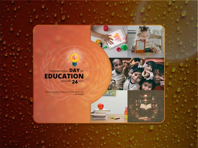 International Day of Education advertising creative socialmedia education banner photoshop illustration design graphicdesign