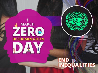 Zero Discrimination Day 2021 internationalday photoshop illustration graphicdesign banner poster united nations color tolerance diversity violence peace humanrights gender equality girl women women empowerment equality discrimination