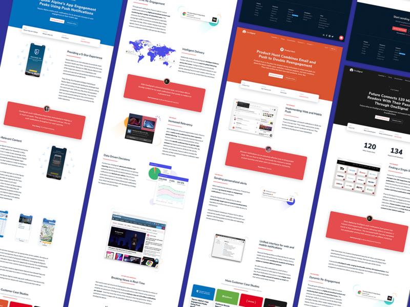 OneSignal Case Studies website onesignal push notification push resources customers case studies casestudy web design
