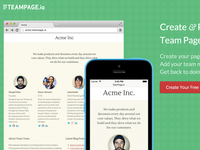 TeamPage.io Home Page