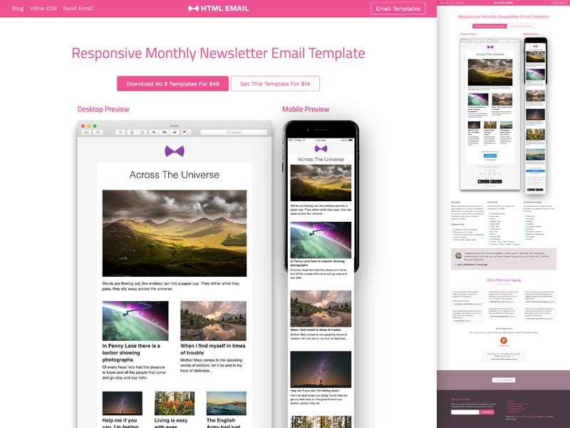 responsive html newsletter email template by lee munroe dribbble