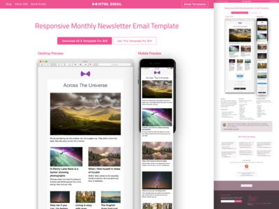 Responsive HTML Newsletter Email Template newsletter gmail landingpage website inbox mail htmlemail template responsive email