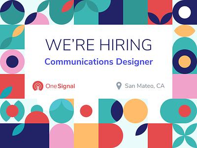 OneSignal is hiring in San Mateo visual design web design branding brand marketing communications graphic design jobs hiring