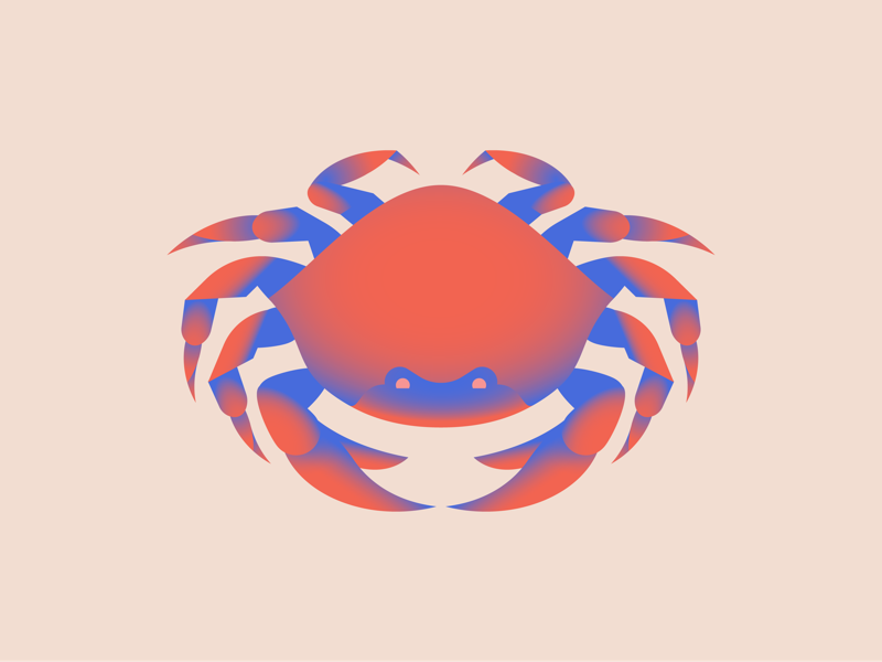 Little Pointy claws illustration gradients crab