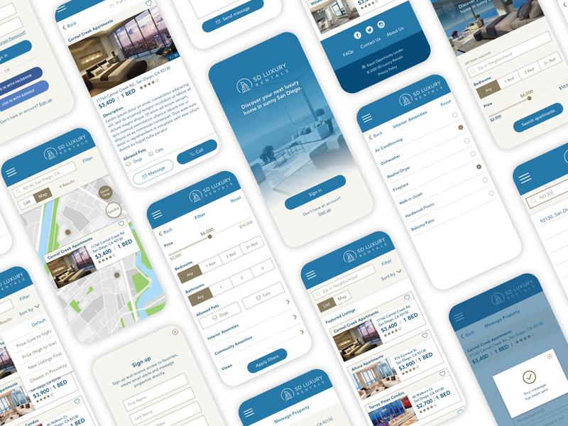 SD Luxury Rentals Application
